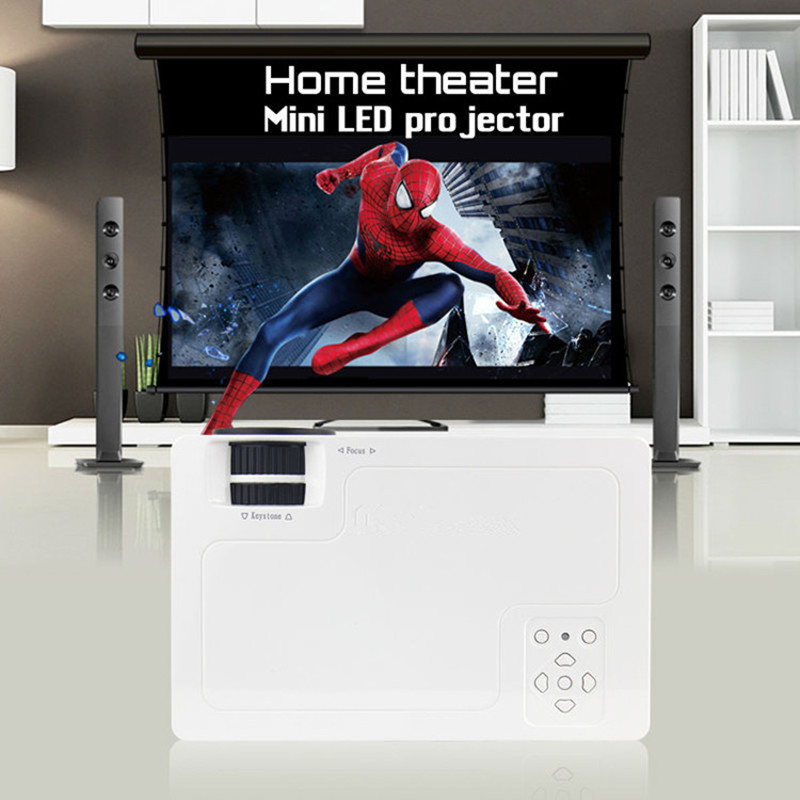 1000lumens 1080P HD Home Theater LCD PC The HDMI USB pICO Video Game LED Mini Projector HD Proyector Beamer wzatco tl 80 hdmi usb tv lcd led android wifi home theater video portable projector hd 1080p proyector beamer russian korean