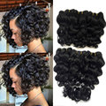 Cheap Brazilian Hair With Closure Bundle Loose Deep Wave With Clousre 8A Ali Moda Hair Company With Closure Short Hair Styles