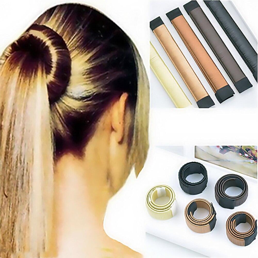 Women Hair DIY Styling Donut Bun Maker Synthetic Hair Twist Magic Tool Accessory