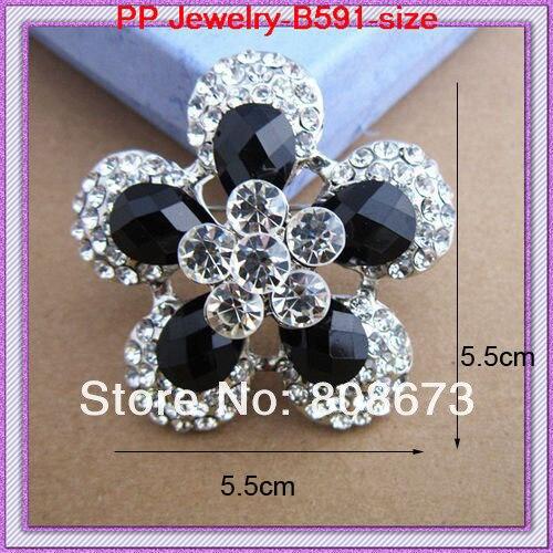 1 шт. розничная винтажная черная Брошь-булавка из смолы и кристаллов роскошный свадебный брошь