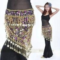бесплатная доставка новинка танец живота бедра шарф с горелым 150 золотые Моне для дамы в два цвета опт и Роза