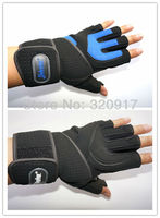 218 # гимнастика фитнес вес подъём тренировки мужчины до запястья НД упражнения перчатки черный синий м L хl
