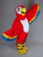 длинные волосы красные ара костюм талисмана плюша попугай птицы талисман маскота компании mascotte экипировка костюм необычные платья карнавальный костюм sw560