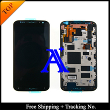 Free Shipping + Tracking No  100% tested  For Motorola X2 XT1092 XT1095 Moto X+1 LCD Touch Screen Assembly Frame – Black/White