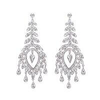 Women's Luxury Rhinestone Long Dangle Drop Chandelier Earrings Cocktail Jewelry