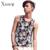 Foral impressão tanque ocasional top dos homens puro algodão o pescoço dos homens do estilo da moda coreano tops musculação verão clothing 2017 mais novo