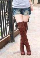 много через сапоги отметил женское сюэ цзи resin Tesla высокая туфли на высоком парень заморожено высокие канистру большой обувь xz1033