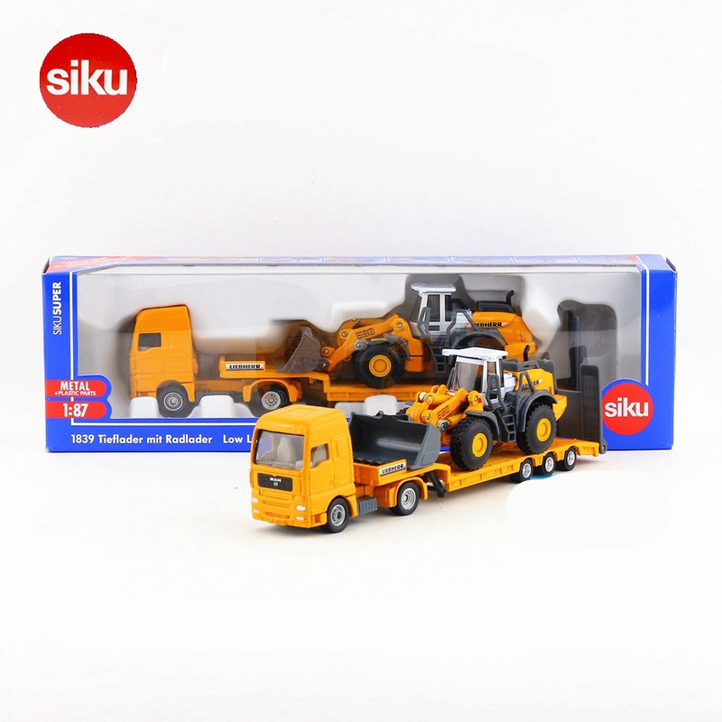 ФОТО 1:87 Scale Siku Diecast Metal Cars Model, Simulation Bulldozing Conveyor Cars Toys, Toys For Children, Collectible Brinquedos