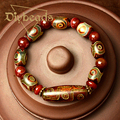 2016 Fashion Natural Stones Dzi Agate Beads Bracelet For Men Charm Jewelry Gifts