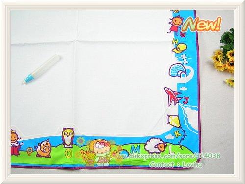 1 шт. коврик для каракули+ 1 ручка/много большой размер 75*75 см Американский коврик для каракули и 1 волшебная ручка/Замена для рисования воды