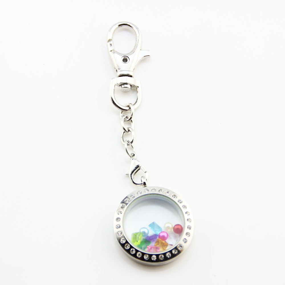 pin keychain awareness and lockets chain pink key floating locket blue