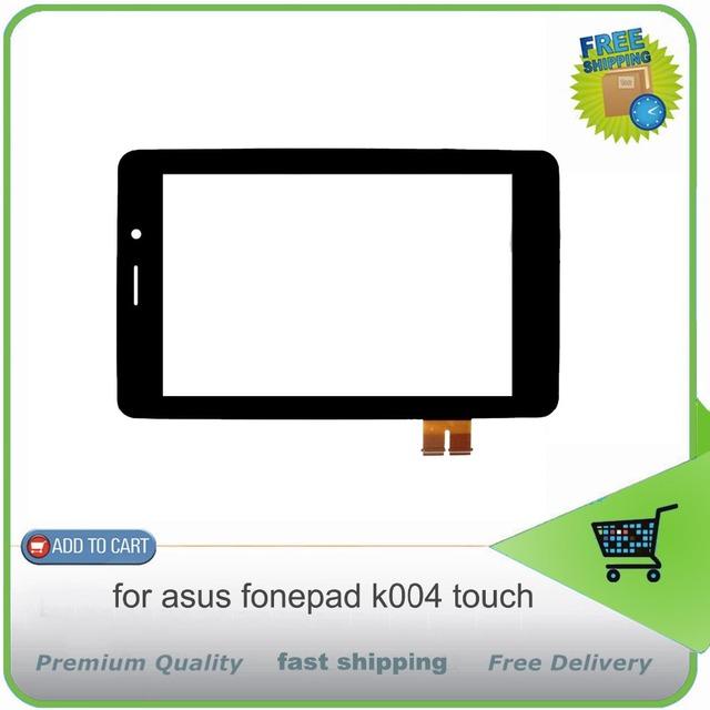 Nuevo frente negro lente de cristal para asus fonepad 7 me371 me371mg k004 pantalla táctil con digitalizador panel táctil, envío libre!!!