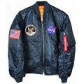 2017 мужская Apollo 11 полета Тонкие Военный Армии Полет Отдых Ветрозащитный Куртка