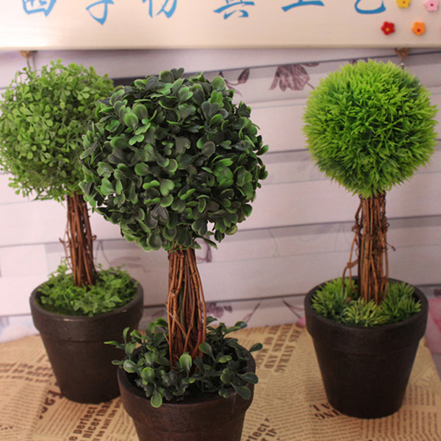 Artificial Flower Potted Bonsai Set Indoor Plants