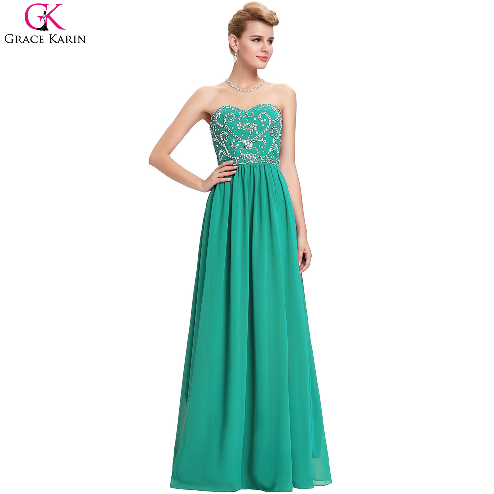 Navy Blue Prom Dresses Grace Karin Strapless Beads Sequin Chiffon ...
