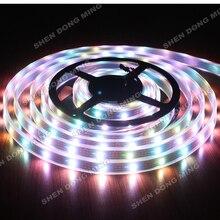 5 M белый или черный PCB светодиодный цифровой светодиодные ленты трубки Водонепроницаемый IP67 DC5V 30 светодиодов/m 5050 IC встроенным изменение цвета светодиодной ленты WS2812