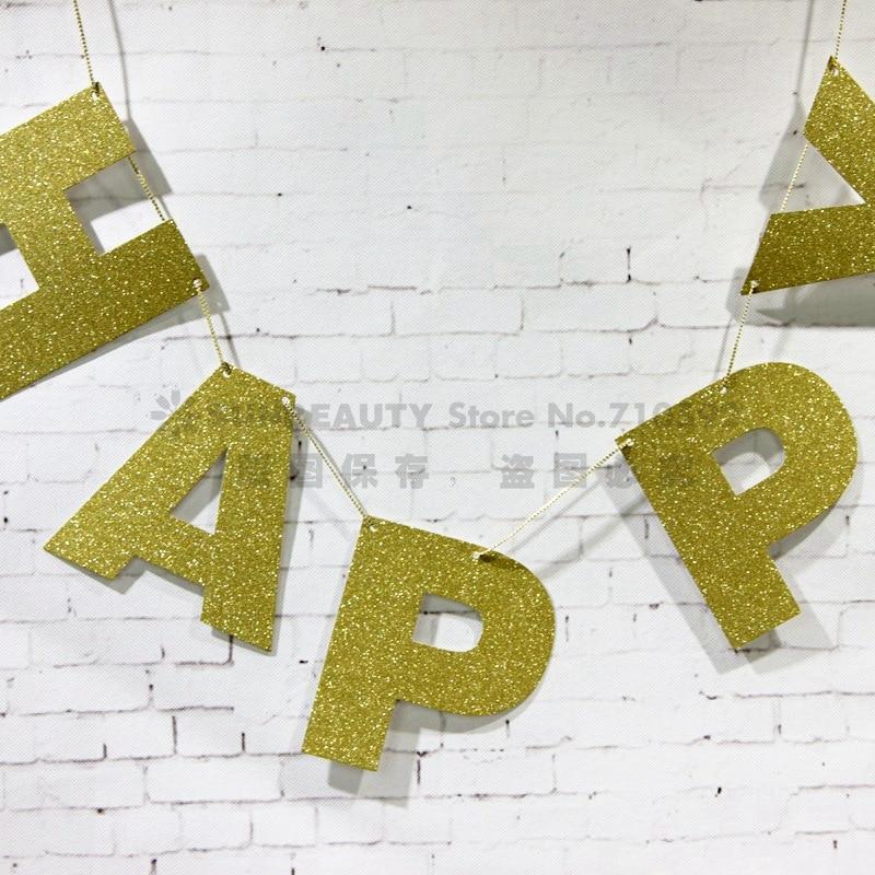 Алтын жарқыраған жарқыраған баннер - Мерекелік және кешкі заттар - фото 4