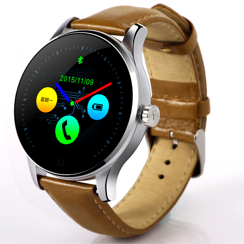 New Wearable Devices font b Smartwatch b font Circular Screen Smart Watch Bluetooth Pedometer Clock Compatible