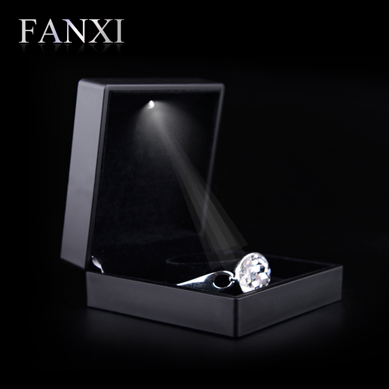 FANXI матовый черный браслет ювелирных изделий коробка дисплея, завернутый с резиновая краска коробка подарка ювелирных изделий коробка/паке…