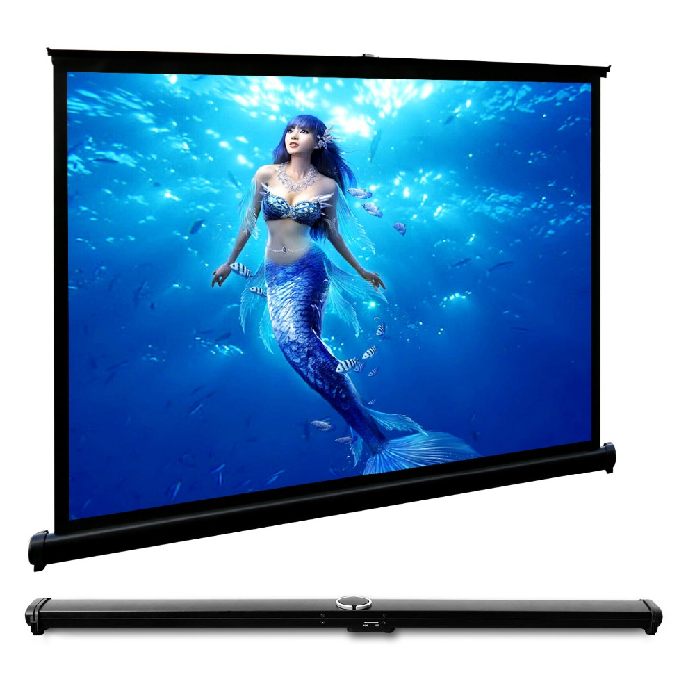 CAIWEI Portable Desktop Projector Screen fabric 40 inch Projection Screen Cinema 4:3 film authentic 72 inch 4 3 stents curtain projector screen projector screen projection screen projection screen