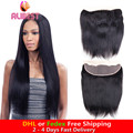 free ship cheap virgin brazilian hair lace frontal closure free part 13x4 human hair straight full lace frontal natural color