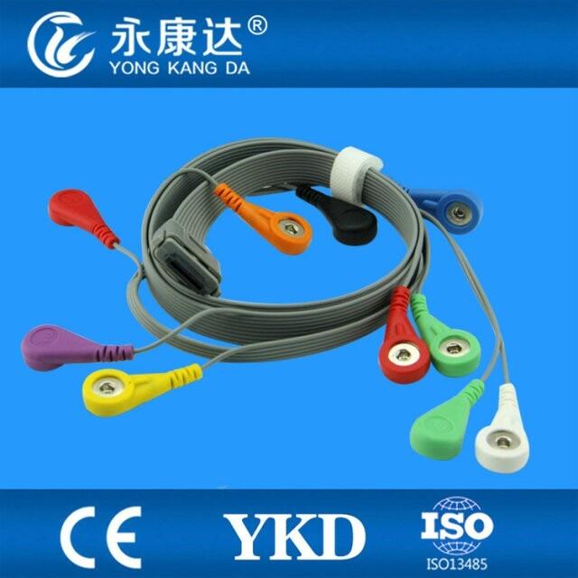 Compatible BI9800 BI9000 EDAN Holter ECG cable, 10leads, AHA, SnapCompatible BI9800 BI9000 EDAN Holter ECG cable, 10leads, AHA, Snap