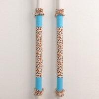 12 5 53cm Long Refrigerator Handle Covers Leopard Print Fridge Cases Pastoral Cotton Fridge Door Handle