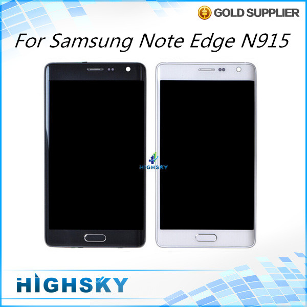 For display Samsung Galaxy Note edge N915 lcd screen + touch digitizer with frame 5 pcs/lot DHL EMS free shipping 5 pieces lot free dhl ems shipping tested for samsung galaxy s6 edge lcd display sm g925 g9250 screen with touch digitizer