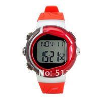 бесплатная доставка 10 шт./лот новый стильный спортивный пульс монитор сердечного ритма счетчик часы мужчин женщин спортивные часы для фитнеса