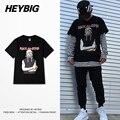 Американской Моды Мужчины футболки 2016 металл Рок-н-Ролл clothing HEYBIG хип-хоп мужской футболки Рэпер Летние Топы CN РАЗМЕР