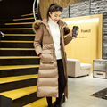 Parkas For Women Long Down Coat Fur Collar Winter Jacket Hood Cotton Padded Thick Warm Outwear Young Ladies Girls Winter Clothes
