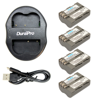 Durapro 4 Pcs Lot EN EL3E EN EL3e ENEL3E EN EL3E Batteries Dual USB Charger For