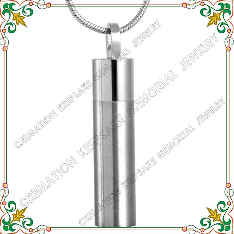 CMJ9130 Aço Inoxidável Colar de Jóias Cremação Urna de Cinzas Memorial  Keepsake Cilindro Frasco Pingente de Colar 1b58a52c11