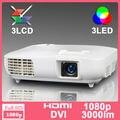 2016 Full HD Nativa 1920x1080 Projetor 3LCD 3LED Projecteur Vídeo HDMI TV Beamer Proyector Casa Usada