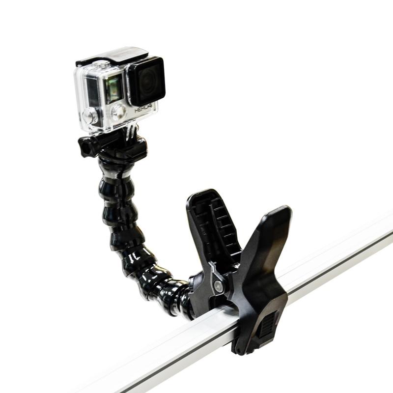 Gopro Accessories Jaws Flex Clamp Mount Adjustable Neck For GoPro Camera Hero1 2 3 3 SJCAM
