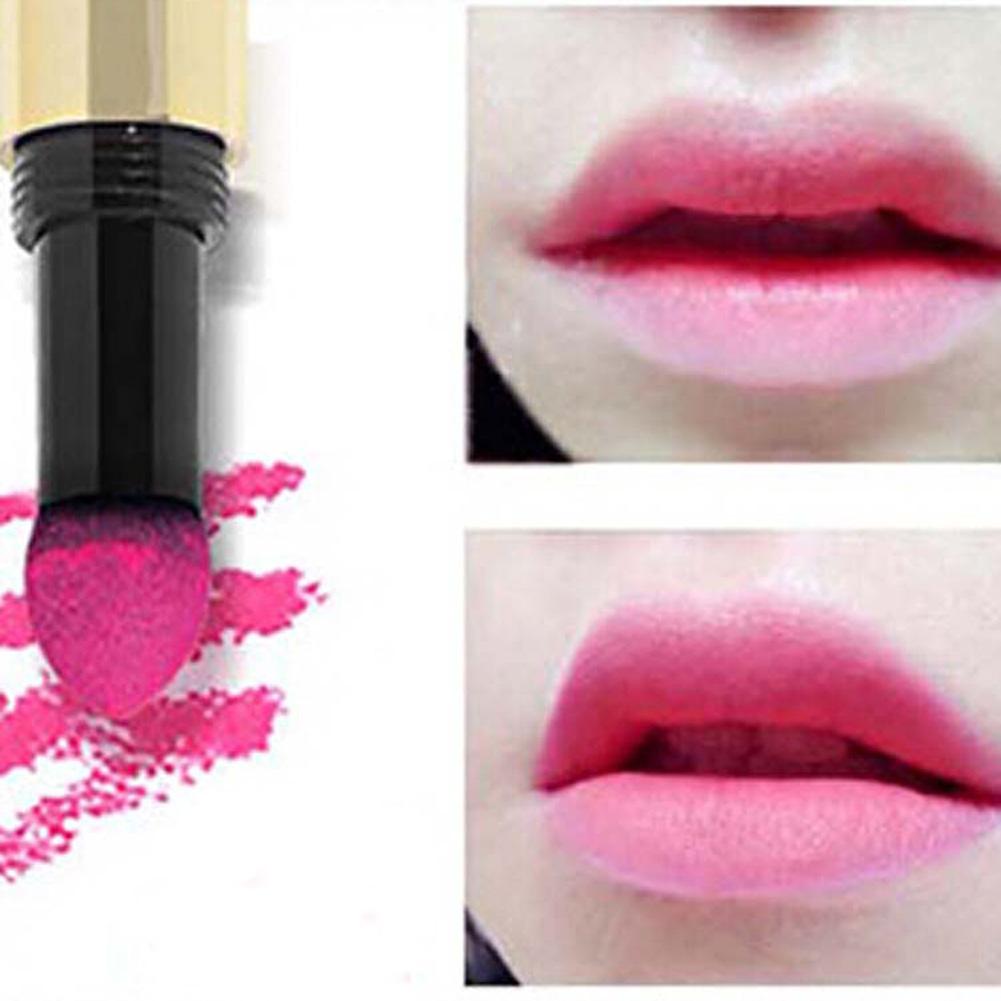 Fosco Sexy Sedoso Creme Em Pó Almofada de Ar mordida de Lábio Vara Longa-duração À Prova D' Água Lip Gloss Elástico Suave lábio matiz