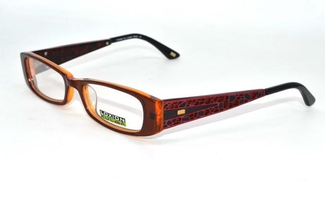 96046ebcd7 Estereoscópica ventana rejillas de diseño Marcos De Acetato mujeres bordes  Gruesos por encargo Prescription miopía gafas