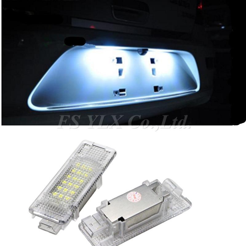 FSYLX Error Free White LED number License Plate Lights For Bmw E53 X5 12v LED number License Plate Lights for bmw e39 Z8 E52