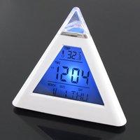 7 изменение цвета пирамида цифровой след музыка из светодиодов Навальный, показатель температуры, дата, время