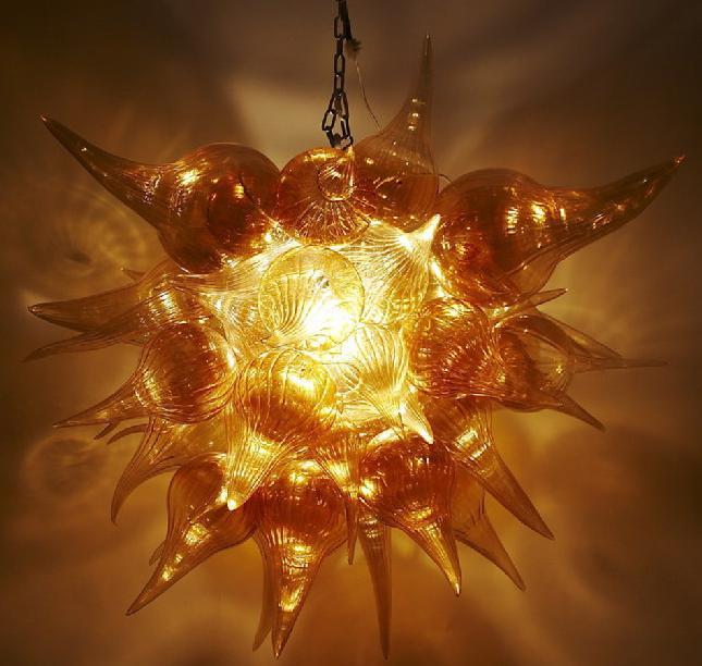 Glass Pendant Light Flower LED Bulbs Hand Blown Murano Glass AC 110/120/220/240V