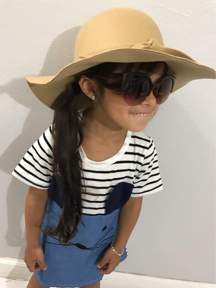Широкополая шляпа для девочки за 280 руб. с Алиэкспресс