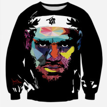 Alisister 2016 New Fashion Autumn Sweatshirts Star LeBron James Sweatshirt Men/Women's 3d Hoodies Tie-dye Harajuku Sweatshirts