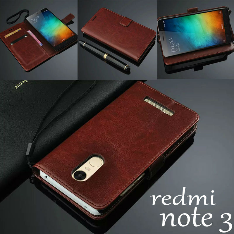 For xiaomi redmi note 3 case cover basiness Luxury flip leather case for xiaomi redmi note 3 Crazy horse wallet Phone Bags Cases ...