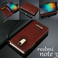 For Xiaomi Redmi Note 3 Case Cover Basiness Luxury Flip Leather Case For Xiaomi Redmi Note
