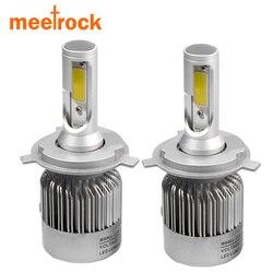 Meetrock фар автомобиля H7 LED H4 H8/H9/H11 HB3/9005 HB4/9006 9007 H3 H1 880 лампы авто спереди туман ДРЛ лампы автомобильных фар