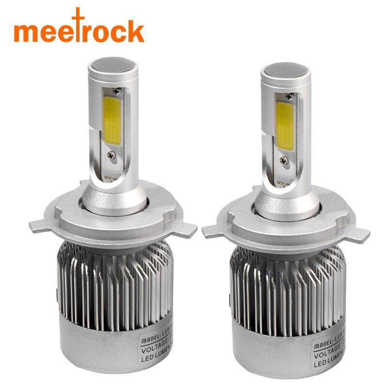 Meetrock car headlight H7 LED H4 H8/H9/H11 HB3/9005 HB4/9006 9007 h3 H1 880 bulb auto front fog drl bulb automobile headlamp