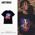 Diversión Rapero Beber Frente Impreso Hombres camiseta 2016 nueva HEYBIG hip hop camisetas skate algodón suave sudor clothing tamaño chino thdx
