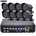 GADINAN 8CH AHD CCTV System 1080P HDMI AHD 8CH DVR 8PCS 720P 960P IR Outdoor Security Camera Surveillance System ABS Housing