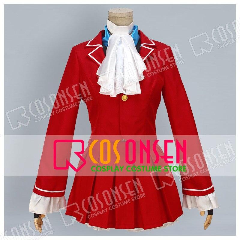 Cosplayonsenストリートファイターカリンコスプレ衣装赤フルセット
