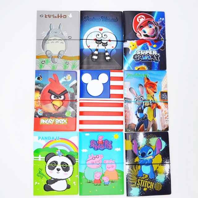 -2016 Lovely cartoon  Patterns Passport Holder Cover Identity Document Folder Travel,17 kinds Pattern case  for choose
